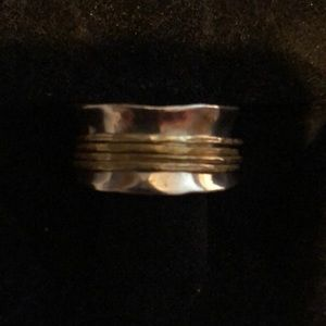SILPADA wide band sterling silver ring.